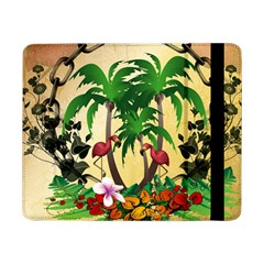 Tropical Design With Flamingo And Palm Tree Samsung Galaxy Tab Pro 8.4  Flip Case