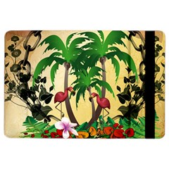 Tropical Design With Flamingo And Palm Tree iPad Air 2 Flip