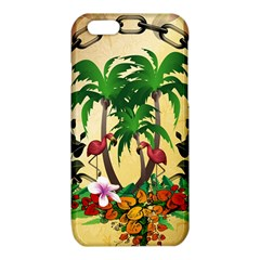 Tropical Design With Flamingo And Palm Tree iPhone 6/6S TPU Case