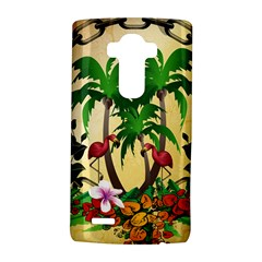 Tropical Design With Flamingo And Palm Tree LG G4 Hardshell Case