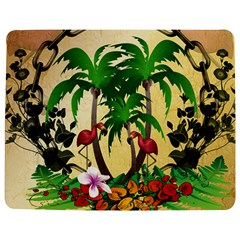 Tropical Design With Flamingo And Palm Tree Jigsaw Puzzle Photo Stand (Rectangular)