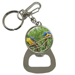 South American Couple Of Parrots Bottle Opener Key Chains