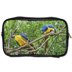 South American Couple Of Parrots Toiletries Bags 2 Side