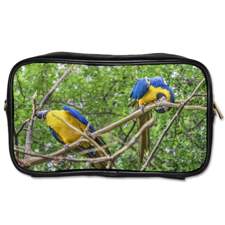 South American Couple Of Parrots Toiletries Bags 2-Side