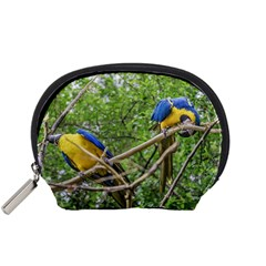 South American Couple Of Parrots Accessory Pouches (Small)