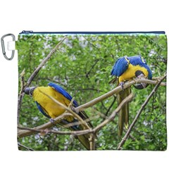 South American Couple Of Parrots Canvas Cosmetic Bag (XXXL)