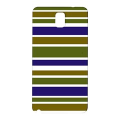 Olive Green Blue Stripes Pattern Samsung Galaxy Note 3 N9005 Hardshell Back Case