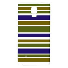 Olive Green Blue Stripes Pattern Galaxy Note 4 Back Case