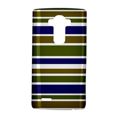 Olive Green Blue Stripes Pattern Lg G4 Hardshell Case