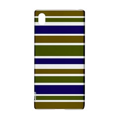 Olive Green Blue Stripes Pattern Sony Xperia Z3+