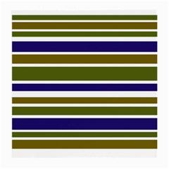 Olive Green Blue Stripes Pattern Medium Glasses Cloth