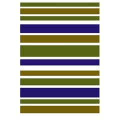 Olive Green Blue Stripes Pattern 5.5  x 8.5  Notebooks