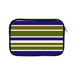 Olive Green Blue Stripes Pattern Apple Ipad Mini Zipper Cases