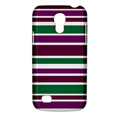 Purple Green Stripes Galaxy S4 Mini
