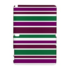 Purple Green Stripes Samsung Galaxy Note 10.1 (P600) Hardshell Case