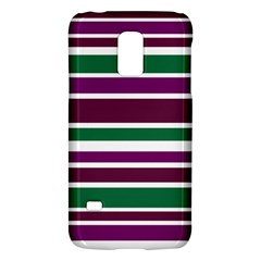 Purple Green Stripes Galaxy S5 Mini