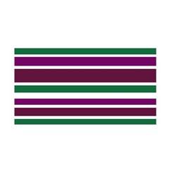 Purple Green Stripes Satin Wrap
