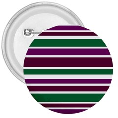 Purple Green Stripes 3  Buttons