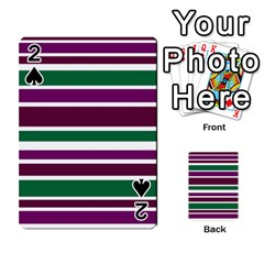 Purple Green Stripes Playing Cards 54 Designs