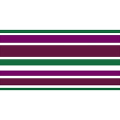 Purple Green Stripes YOU ARE INVITED 3D Greeting Card (8x4)
