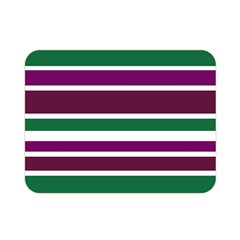 Purple Green Stripes Double Sided Flano Blanket (Mini)