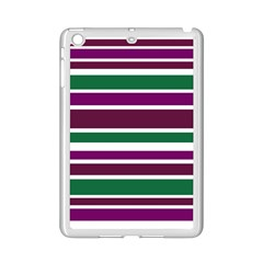 Purple Green Stripes iPad Mini 2 Enamel Coated Cases