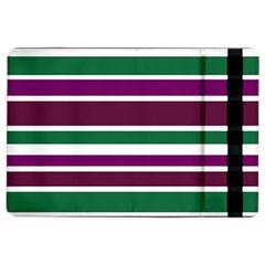 Purple Green Stripes iPad Air 2 Flip