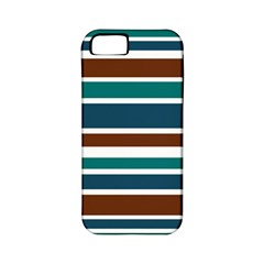 Teal Brown Stripes Apple iPhone 5 Classic Hardshell Case (PC+Silicone)