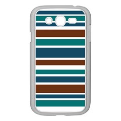 Teal Brown Stripes Samsung Galaxy Grand DUOS I9082 Case (White)