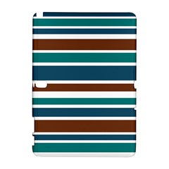 Teal Brown Stripes Samsung Galaxy Note 10 1 (p600) Hardshell Case