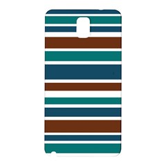 Teal Brown Stripes Samsung Galaxy Note 3 N9005 Hardshell Back Case