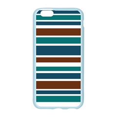 Teal Brown Stripes Apple Seamless iPhone 6/6S Case (Color)