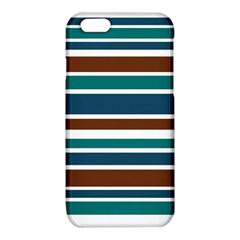 Teal Brown Stripes iPhone 6/6S TPU Case