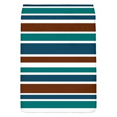 Teal Brown Stripes Flap Covers (S)