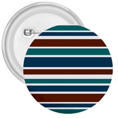 Teal Brown Stripes 3  Buttons