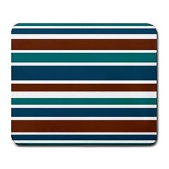 Teal Brown Stripes Large Mousepads