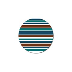 Teal Brown Stripes Golf Ball Marker (4 pack)