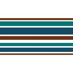 Teal Brown Stripes YOU ARE INVITED 3D Greeting Card (8x4)