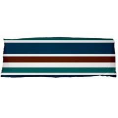 Teal Brown Stripes Body Pillow Case (Dakimakura)