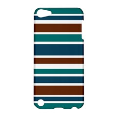 Teal Brown Stripes Apple iPod Touch 5 Hardshell Case
