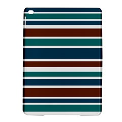 Teal Brown Stripes iPad Air 2 Hardshell Cases