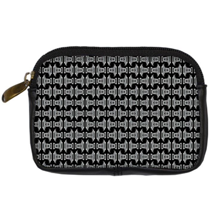 Black White Tiki Pattern Digital Camera Cases