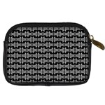 Black White Tiki Pattern Digital Camera Cases Back