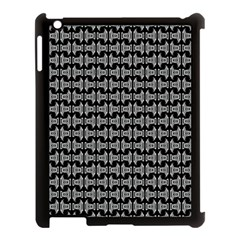 Black White Tiki Pattern Apple iPad 3/4 Case (Black)