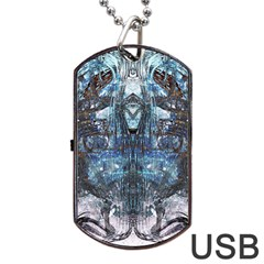 Lost In The Mirror  Dog Tag USB Flash (Two Sides)