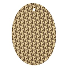 Braided Pattern Oval Ornament (Two Sides)