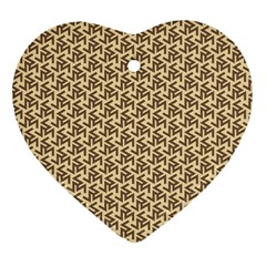 Braided Pattern Heart Ornament (2 Sides)