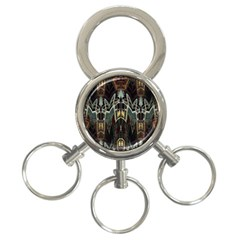 Urban Industrial Rust Grunge 3-Ring Key Chains
