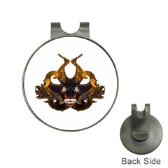 Demon Tribal Mask Hat Clips with Golf Markers