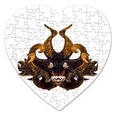 Demon Tribal Mask Jigsaw Puzzle (Heart)